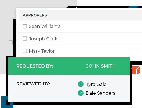 Choose approvers on procurementexpress.com