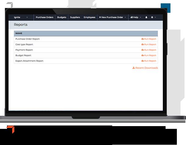 Reports screen procurementexpress.com