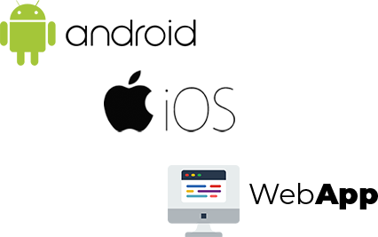 android, ios and webapp logo