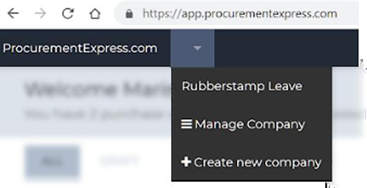 Company switching with procurementexpress.com